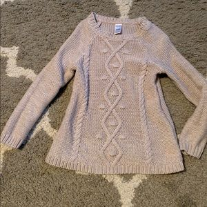 3T tan beige cable knit sweater fall autumn
